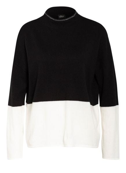 s.Oliver BLACK LABEL Pullover, Farbe: SCHWARZ/ WEISS (Bild 1)