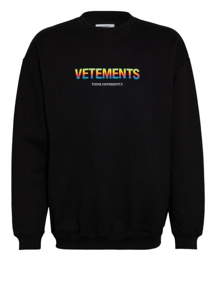 VETEMENTS Sweatshirt, Farbe: SCHWARZ (Bild 1)