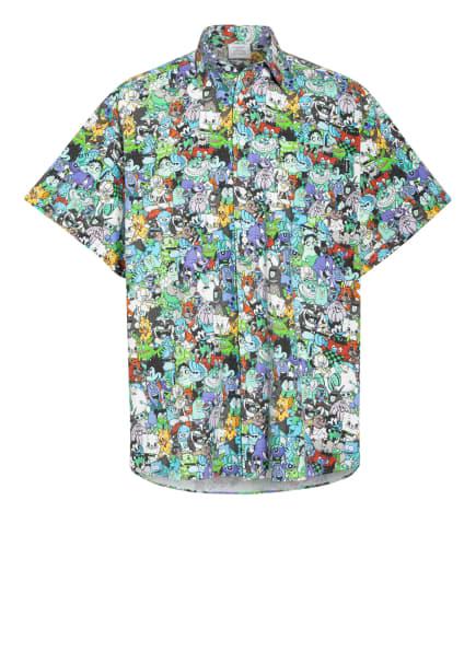 VETEMENTS Oversized-Hemd aus Flanell, Farbe: GRÜN/ LILA/ TÜRKIS (Bild 1)