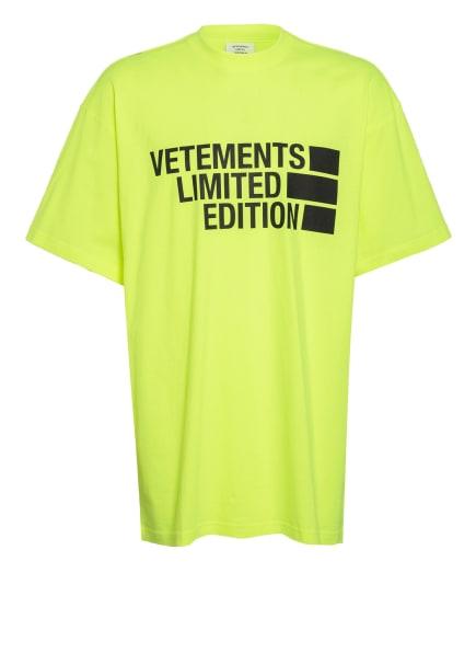 VETEMENTS T-Shirt, Farbe: NEONGELB (Bild 1)