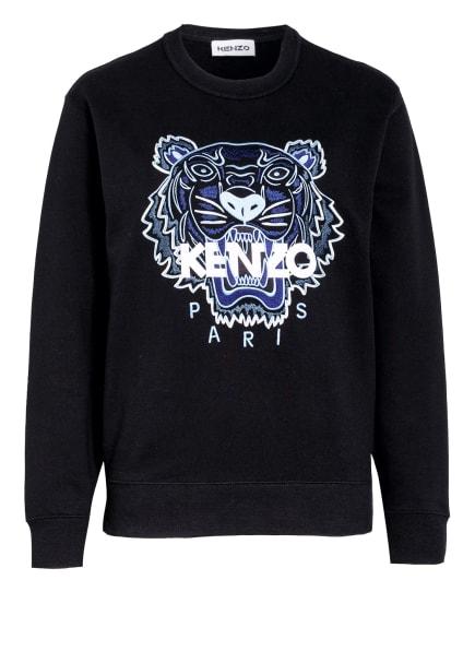 KENZO Sweatshirt TIGER, Farbe: SCHWARZ/ BLAU/ WEISS (Bild 1)