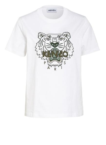 KENZO T-Shirt TIGER, Farbe: WEISS/ OLIV (Bild 1)