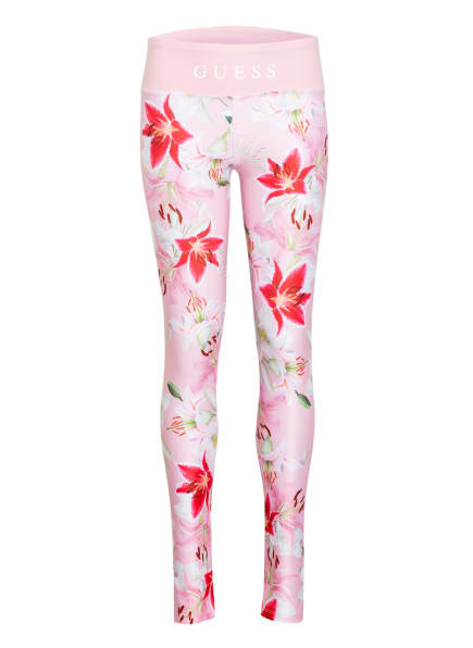 GUESS Leggings, Farbe: ROSA/ WEISS/ PINK (Bild 1)
