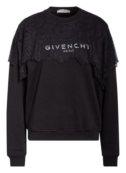 GIVENCHY Sweatshirt mit Spitzenbesatz, Farbe: SCHWARZ (Bild 1)