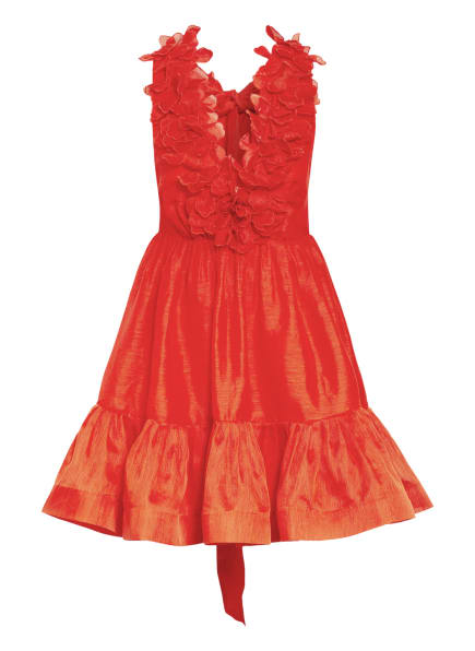 ZIMMERMANN Kleid THE LOVESTRUCK mit Leinen und Seide, Farbe: ROT (Bild 1)