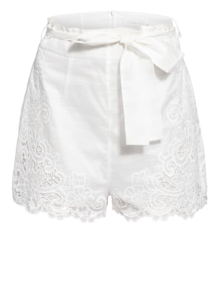 ZIMMERMANN Shorts LULU mit Spitzenbesatz, Farbe: WEISS (Bild 1)