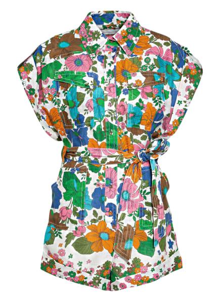 ZIMMERMANN Jumpsuit RIDERS aus Leinen , Farbe: BLAU/ GRÜN/ ROSA (Bild 1)
