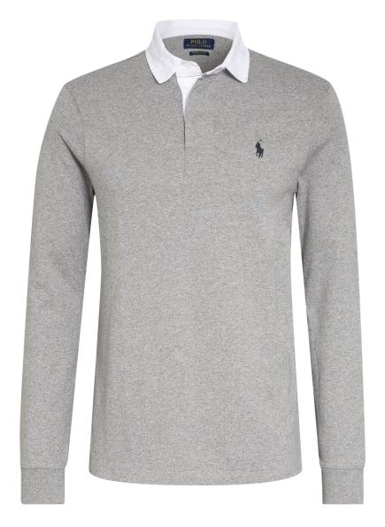 POLO RALPH LAUREN Jersey-Poloshirt Custom Slim Fit, Farbe: GRAU/ WEISS (Bild 1)