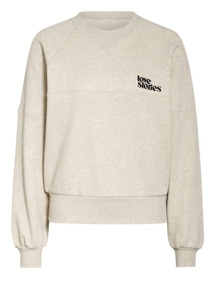 LOVE Stories Lounge-Sweatshirt BORIS, Farbe: CREME/ CAMEL (Bild 1)