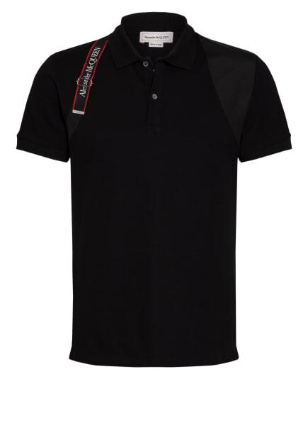 Alexander McQUEEN Piqué-Poloshirt Slim Fit, Farbe: SCHWARZ (Bild 1)