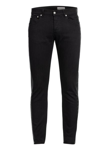 Alexander McQUEEN Jeans Extra Slim Fit mit Galonstreifen, Farbe: SCHWARZ (Bild 1)
