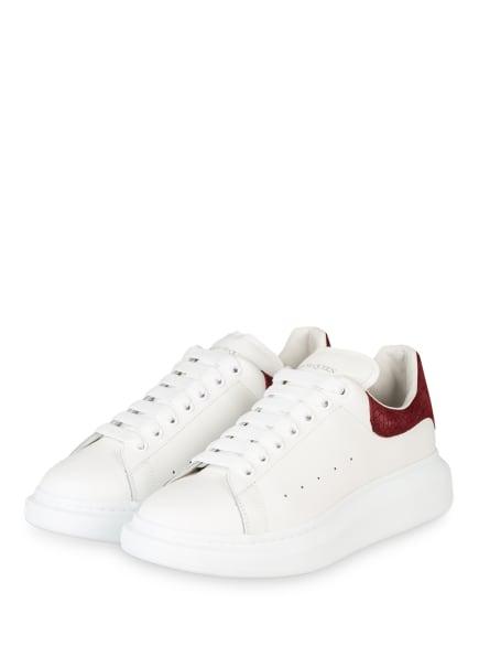 Alexander McQUEEN Sneaker , Farbe: WEISS/ DUNKELROT (Bild 1)