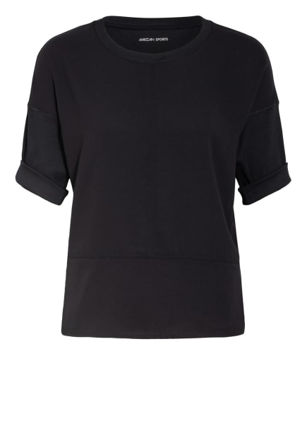 MARC CAIN Blusenshirt im Materialmix, Farbe: 900 BLACK (Bild 1)