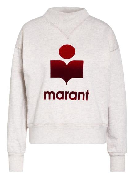 ISABEL MARANT ÉTOILE Sweatshirt MOBY, Farbe: ECRU/ GRAU/ ROT (Bild 1)
