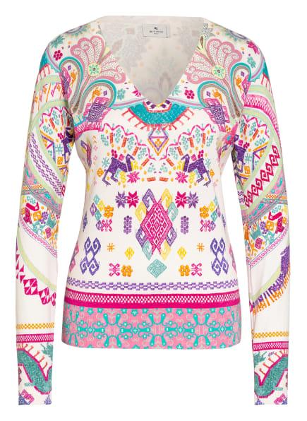 ETRO Pullover aus Seide, Farbe: CREME/ LILA/ PINK (Bild 1)