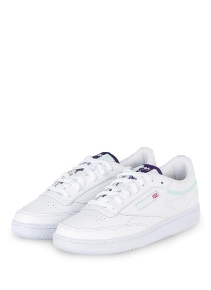 Reebok CLASSIC Sneaker CLUB C 85, Farbe: WEISS/ HELLGRÜN (Bild 1)