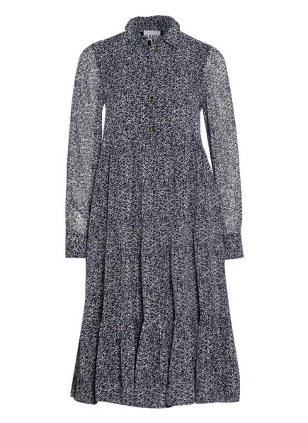 GANNI Kleid, Farbe: DUNKELBLAU/ WEISS/ HELLBLAU (Bild 1)