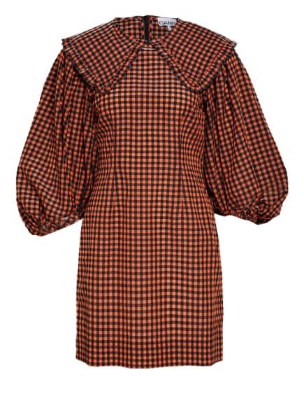 GANNI Kleid, Farbe: SCHWARZ/ ORANGE (Bild 1)
