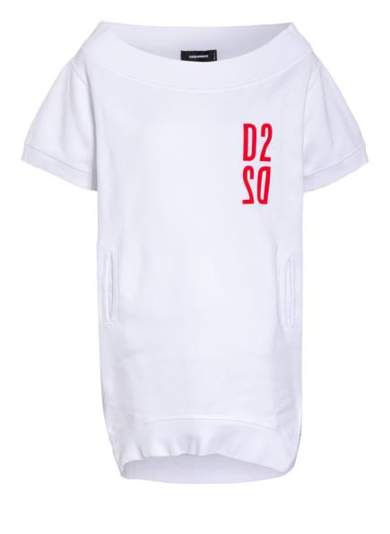 DSQUARED2 Oversized-Sweatshirt, Farbe: WEISS/ ROT (Bild 1)