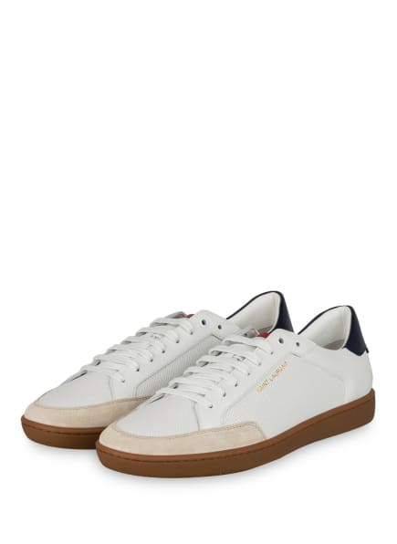 SAINT LAURENT Sneaker COURT CLASSIC SL/10, Farbe: WEISS/ DUNKELBLAU (Bild 1)