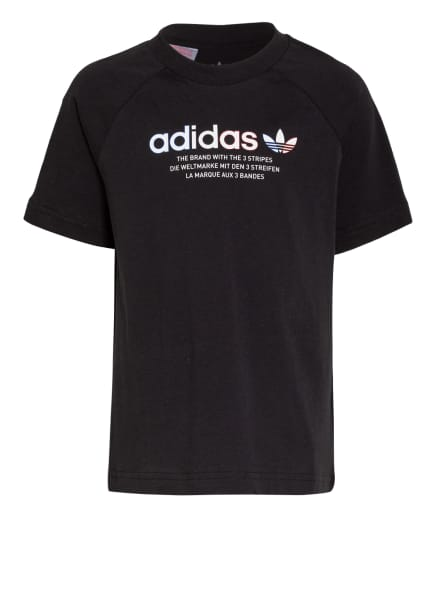 adidas Originals T-Shirt ADICOLOR, Farbe: SCHWARZ (Bild 1)