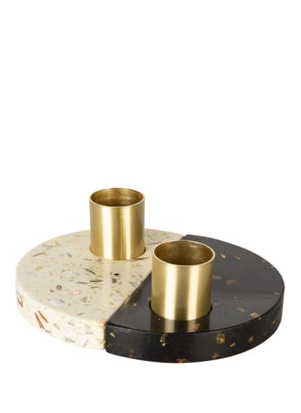HÜBSCH 2er-Set Kerzenhalter, Farbe: SCHWARZ/ CREME (Bild 1)