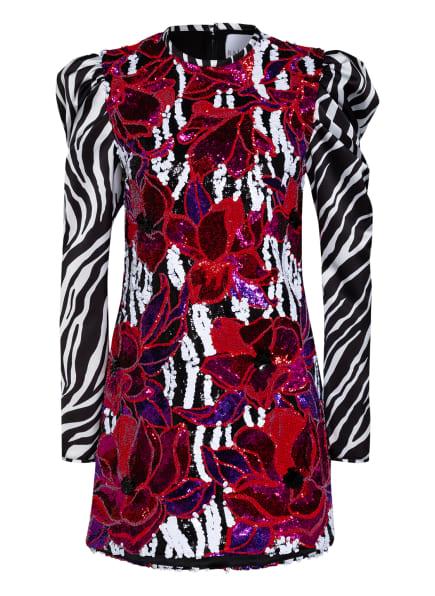 HALPERN Kleid mit Paillettenbesatz, Farbe: SCHWARZ/ WEISS/ DUNKELROT (Bild 1)