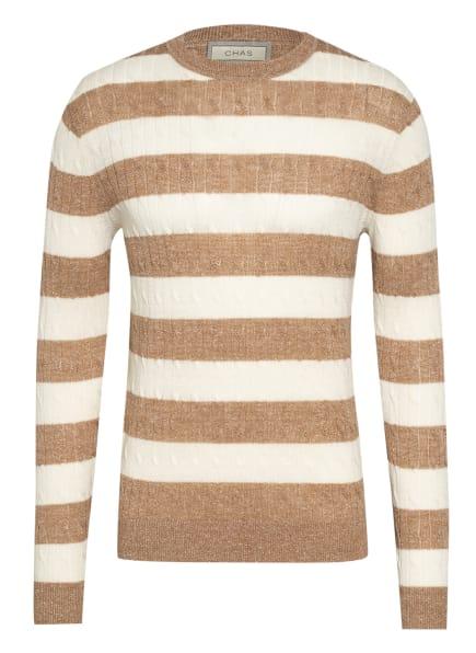 CHAS Pullover mit Leinen, Farbe: ECRU/ HELLBRAUN (Bild 1)