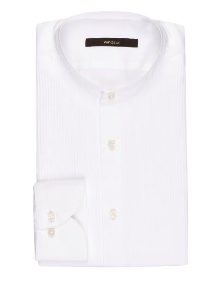 windsor. Smoking-Hemd NOTTE Shaped Fit mit Stehkragen, Farbe: WEISS (Bild 1)