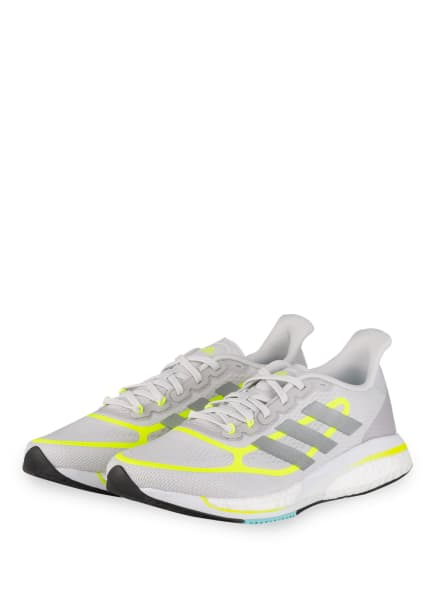 adidas Laufschuhe SUPERNOVA+, Farbe: HELLGRAU/ NEONGELB (Bild 1)