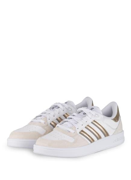 adidas Sneaker BREAKNET PLUS, Farbe: WEISS/ CREME/ GOLD (Bild 1)