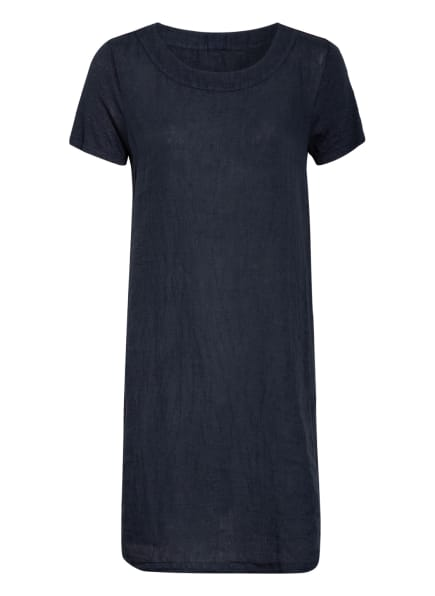 120%lino Leinenkleid, Farbe: DUNKELBLAU (Bild 1)
