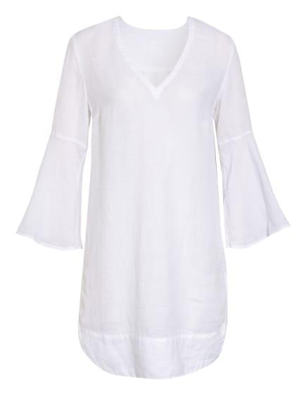 120%lino Leinenkleid mit 3/4-Arm, Farbe: T050 white (Bild 1)