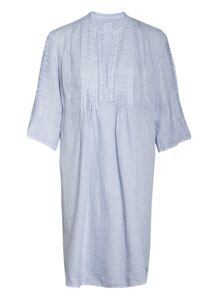120%lino Leinenkleid mit 3/4-Arm, Farbe: HELLBLAU (Bild 1)
