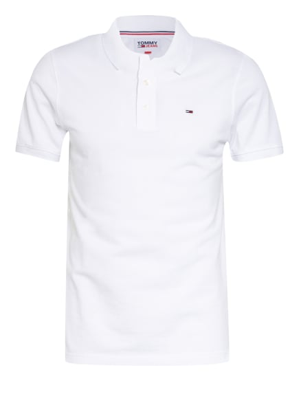 TOMMY JEANS Piqué-Poloshirt Slim Fit, Farbe: WEISS (Bild 1)
