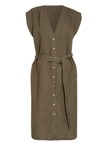 120%lino Leinenkleid, Farbe: KHAKI (Bild 1)