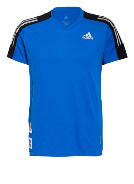 adidas T-Shirt RUN IT SPACE RACE, Farbe: BLAU/ SCHWARZ/ GRAU (Bild 1)