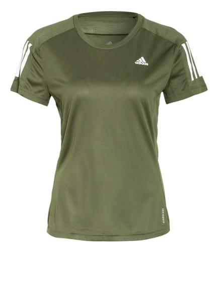 adidas Laufshirt OWN THE RUN mit Mesh-Einsätzen, Farbe: OLIV (Bild 1)