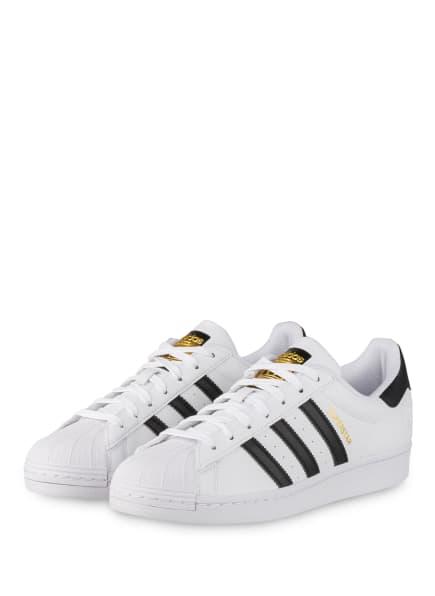 adidas Originals Sneaker SUPERSTAR VEGAN, Farbe: WEISS/ SCHWARZ (Bild 1)