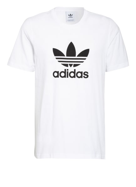 adidas Originals T-Shirt ADICOLOR CLASSICS TREFOIL, Farbe: WEISS/ SCHWARZ (Bild 1)