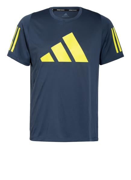 adidas T-Shirt FREELIFT, Farbe: PETROL/ NEONGELB (Bild 1)