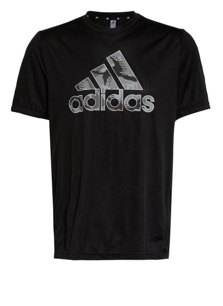 adidas T-Shirt DESIGNED TO MOVE, Farbe: SCHWARZ/ GRAU/ DUNKELGRAU (Bild 1)