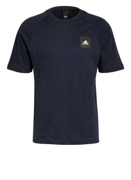 adidas T-Shirt MUST HAVES STADIUM mit Mesh-Einsätzen, Farbe: DUNKELBLAU (Bild 1)