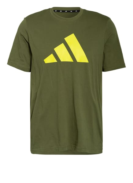 adidas T-Shirt BADGE OF SPORT, Farbe: GRÜN/ NEONGELB (Bild 1)