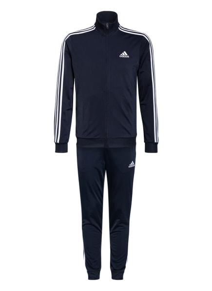 adidas Trainingsanzug PRIMEGREEN ESSENTIAL, Farbe: DUNKELBLAU/ WEISS (Bild 1)