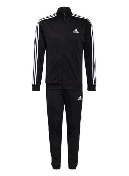 adidas Trainingsanzug Adidas  PRIMEGREEN ESSENTIALS, Farbe: SCHWARZ/ WEISS (Bild 1)