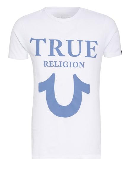 TRUE RELIGION T-Shirt, Farbe: WEISS/ BLAUGRAU (Bild 1)