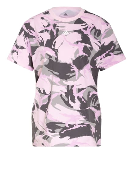 adidas T-Shirt ESSENTIALS, Farbe: ROSA/ DUNKELGRAU/ GRAU (Bild 1)