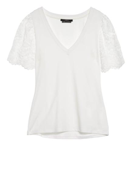 SET T-Shirt mit Spitzenbesatz, Farbe: WEISS (Bild 1)