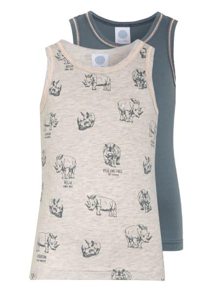 Sanetta 2er-Pack Unterhemden , Farbe: BLAUGRAU/ HELLGRAU (Bild 1)